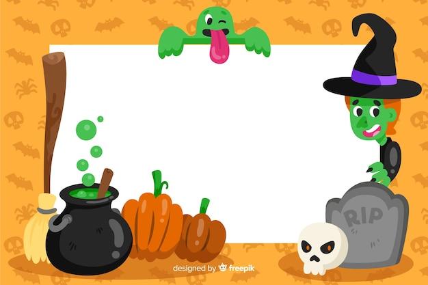 Quadro de bruxaria de fundo de halloween