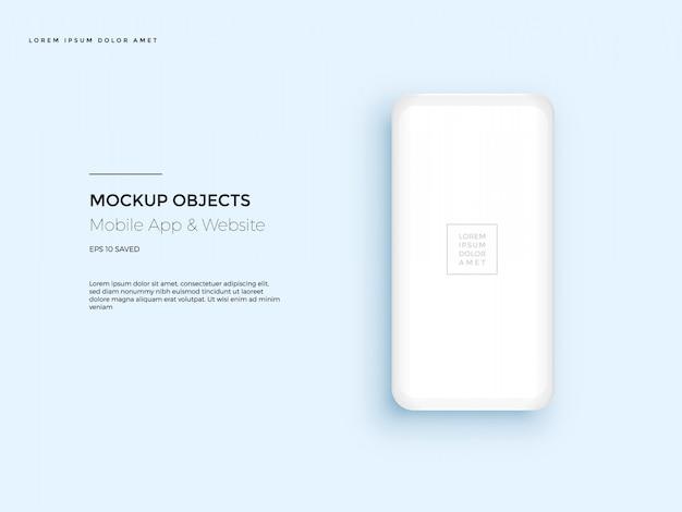 Quadro de celular com tela em branco.