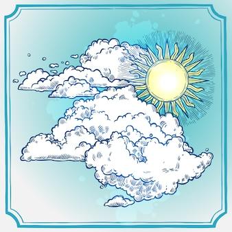 Quadro de céu ensolarado