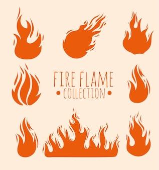 Quadro de chamas de fogo