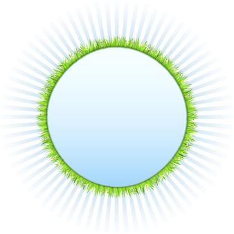 Quadro de círculo com grama