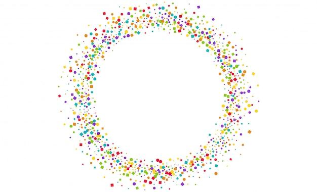 Quadro de círculo de decoração confete