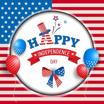 Quadro de círculo do dia da independência