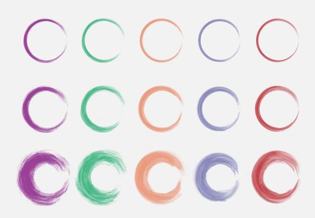 Quadro de círculo em aquarela.