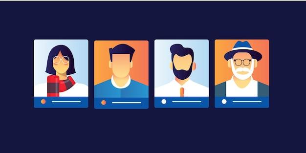 Quadro de classificação de personas do usuário