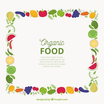 Quadro de comida com diferentes aliments