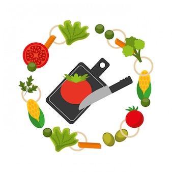 Quadro de comida saudável