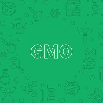 Quadro de contorno do conceito verde vetor gmo