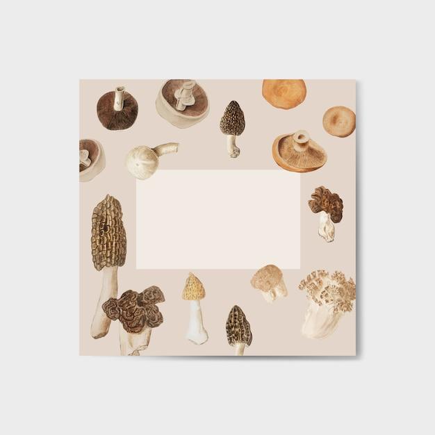 Quadro de design de cogumelo