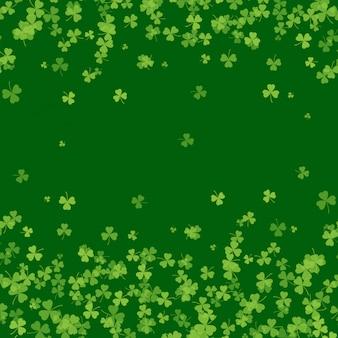 Quadro de dia de são patrício com verde