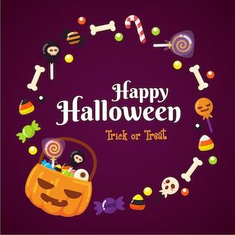 Quadro de doces de halloween