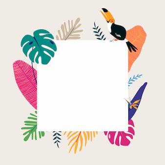 Quadro de espaço de design tropical