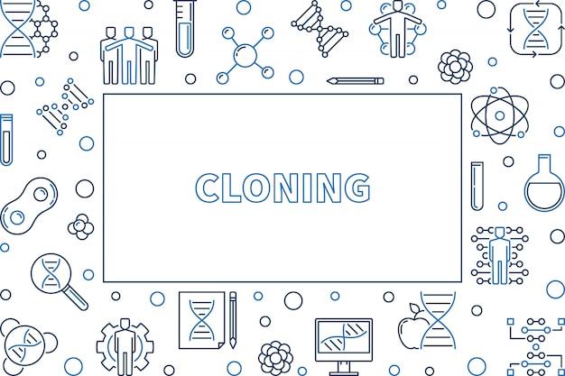 Quadro de estrutura de tópicos de clonagem