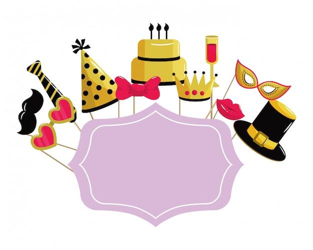 Quadro de feliz aniversário
