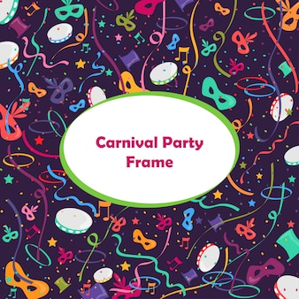 Quadro de festa de carnaval colorido