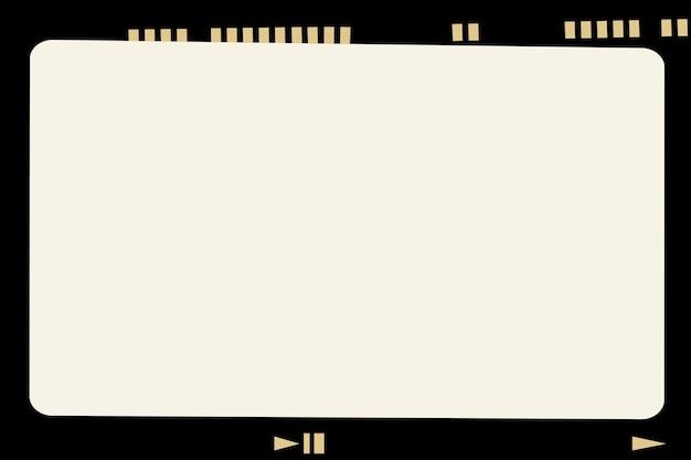 Quadro de filme analógico estético vetorial fotografia estilo vintage