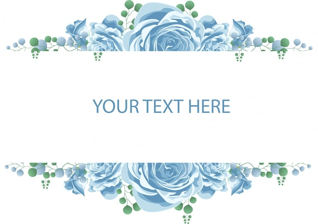 Quadro de flor com rosa azul