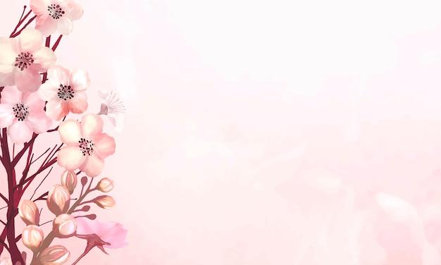 Quadro de flor de cerejeira