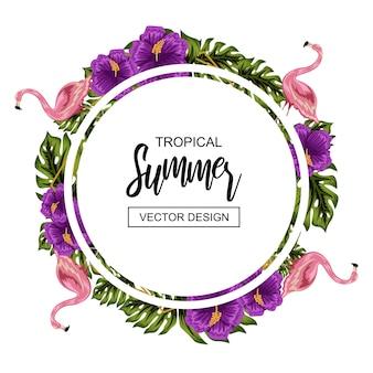 Quadro de flor tropical de verão