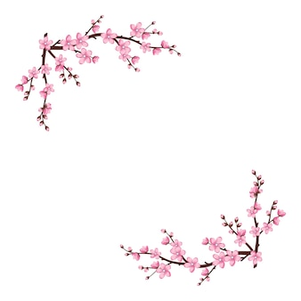 Quadro de flores fofas de sakura