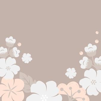 Quadro de flores pastel japonês