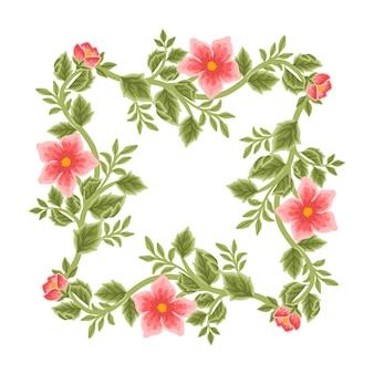 Quadro de flores vintage e arranjos de grinaldas