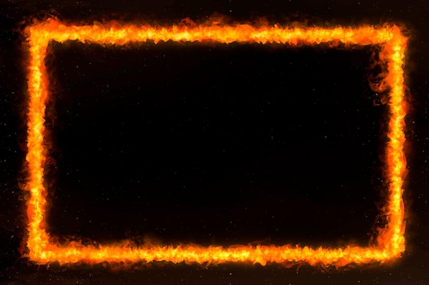 Quadro de fogo retângulo laranja
