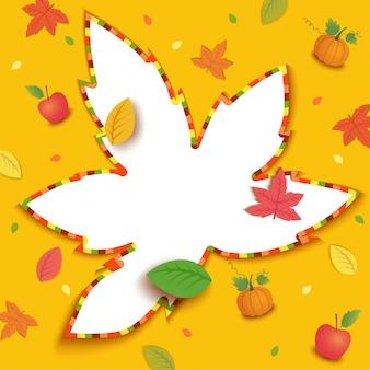 Quadro de folha de outono