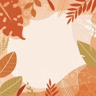 Quadro de folhas de outono coloridas para decoração.