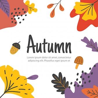 Quadro de folhas de outono