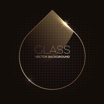 Quadro de forma de gota de vidro transparente