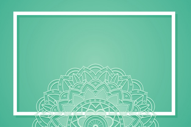 Quadro de fundo com desenhos de mandala