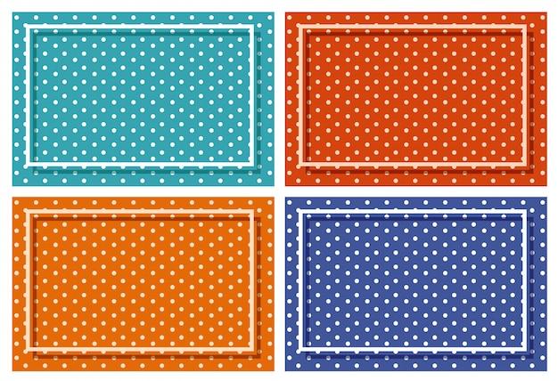 Quadro de fundo com padrões de bolinhas