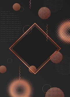 Quadro de fundo de círculo de meio-tom