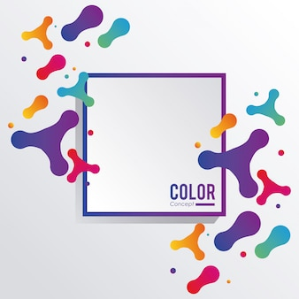 Quadro de fundo do conceito de cor