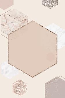 Quadro de glitter de cobre