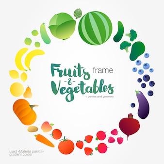 Quadro de gradiente de legumes