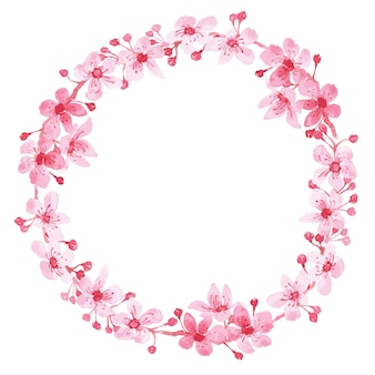 Quadro de guirlanda floral