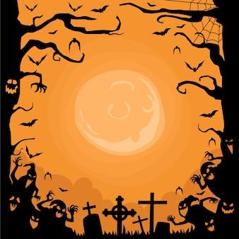 Quadro de halloween desenhado à mão