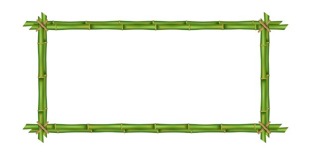 Quadro de hastes de bambu, em branco.