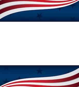 Quadro de ícones de bandeira americana do estado unida