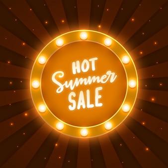 Quadro de letreiro de venda quente de verão