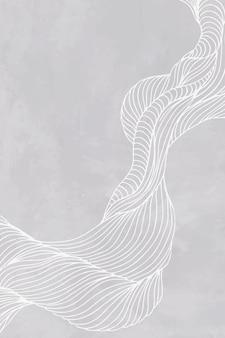 Quadro de linha abstrata cinza