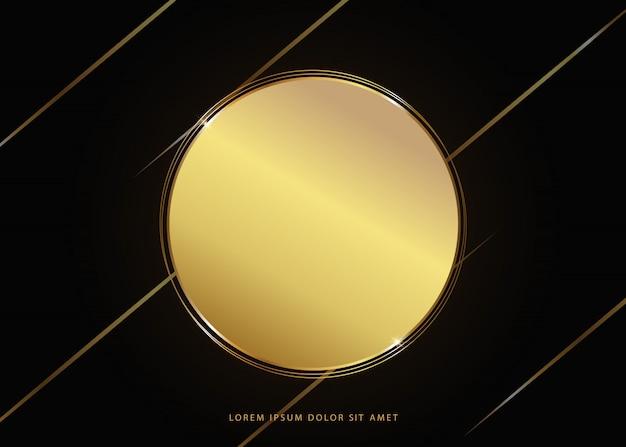 Quadro de linha de ouro luxuoso