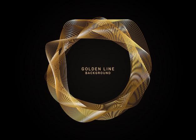 Quadro de linha elegante de ouro