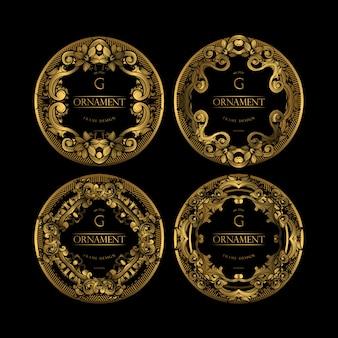 Quadro de luxo com cor dourada