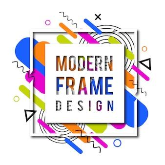 Quadro de memphis moderno vetor criativo