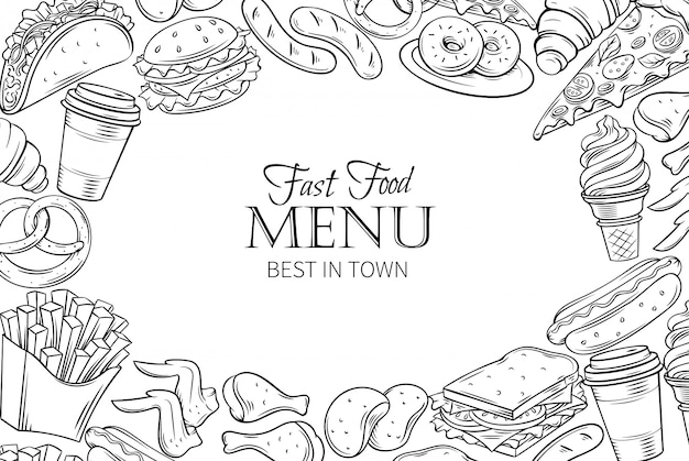 Quadro de modelo de fast-food