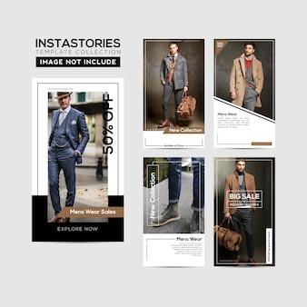 Quadro de modelo de histórias do instagram