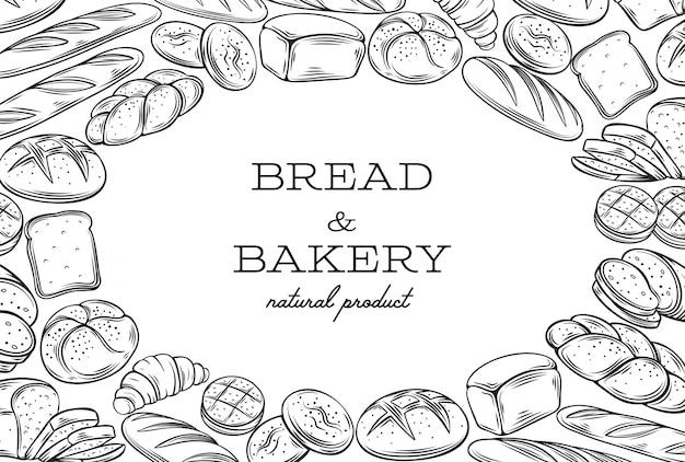 Quadro de modelo de pão